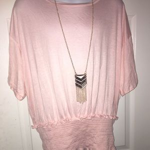 Tops - Brand New Shirt with gold necklace